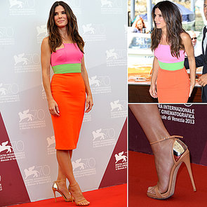 Sandra Bullock Wears Alex Perry at 2013 Venice Film Festival