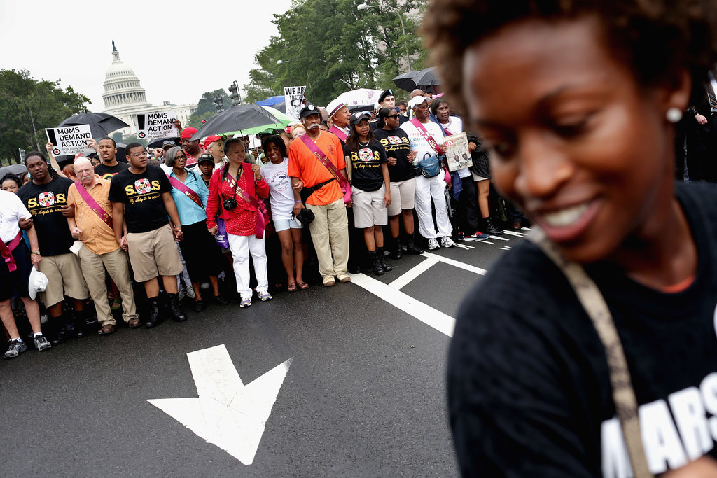 People participated in a march to mark the 50th anniversary of the March on Washington For Jobs and Freedom.