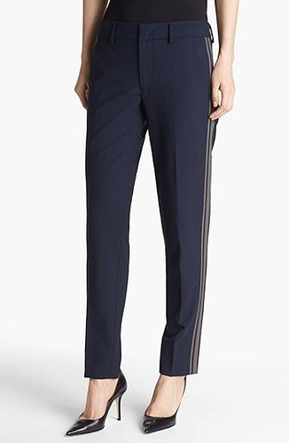 Vince 'Strapping' Stretch Wool Trousers Womens Coastal/ Ash Size 2 2