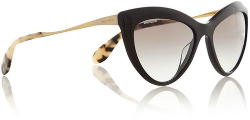 Miu Miu Ladies black golden cat eye sunglasses