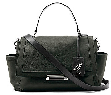 Highline Courier Leather Bag In Bottle Green