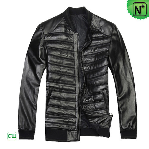 Men Quilted Leather Jacket CW804449 - m.cwmalls.com