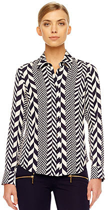MICHAEL Michael Kors  League-Stripe Blouse, Women's