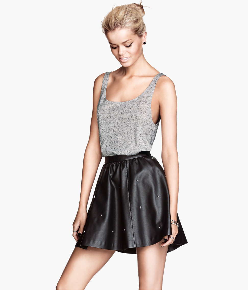Just another skater skirt? Think again! Petite skulls dot this H&M version ($30) for an unexpected twist.