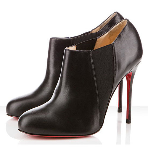 Christian Louboutin 100mm Black Ankle Boots Lastoto