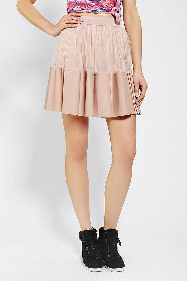In blush pink, this leather-tipped Ark & Co. skirt ($20, originally $69) feels fit for a ballerina.