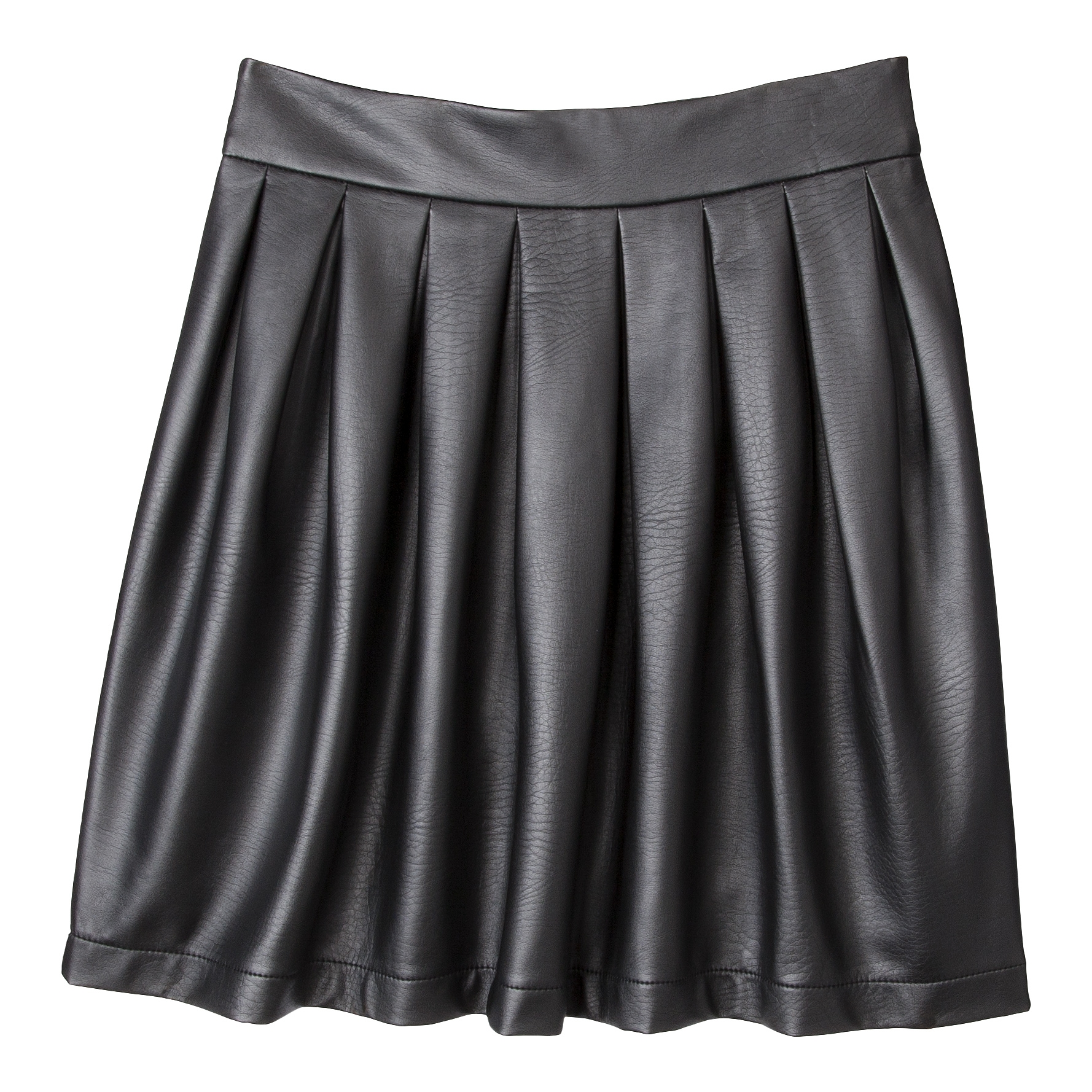 If you prefer your skirts with some swing and sway, try on this pleated Xhilaration style ($25).