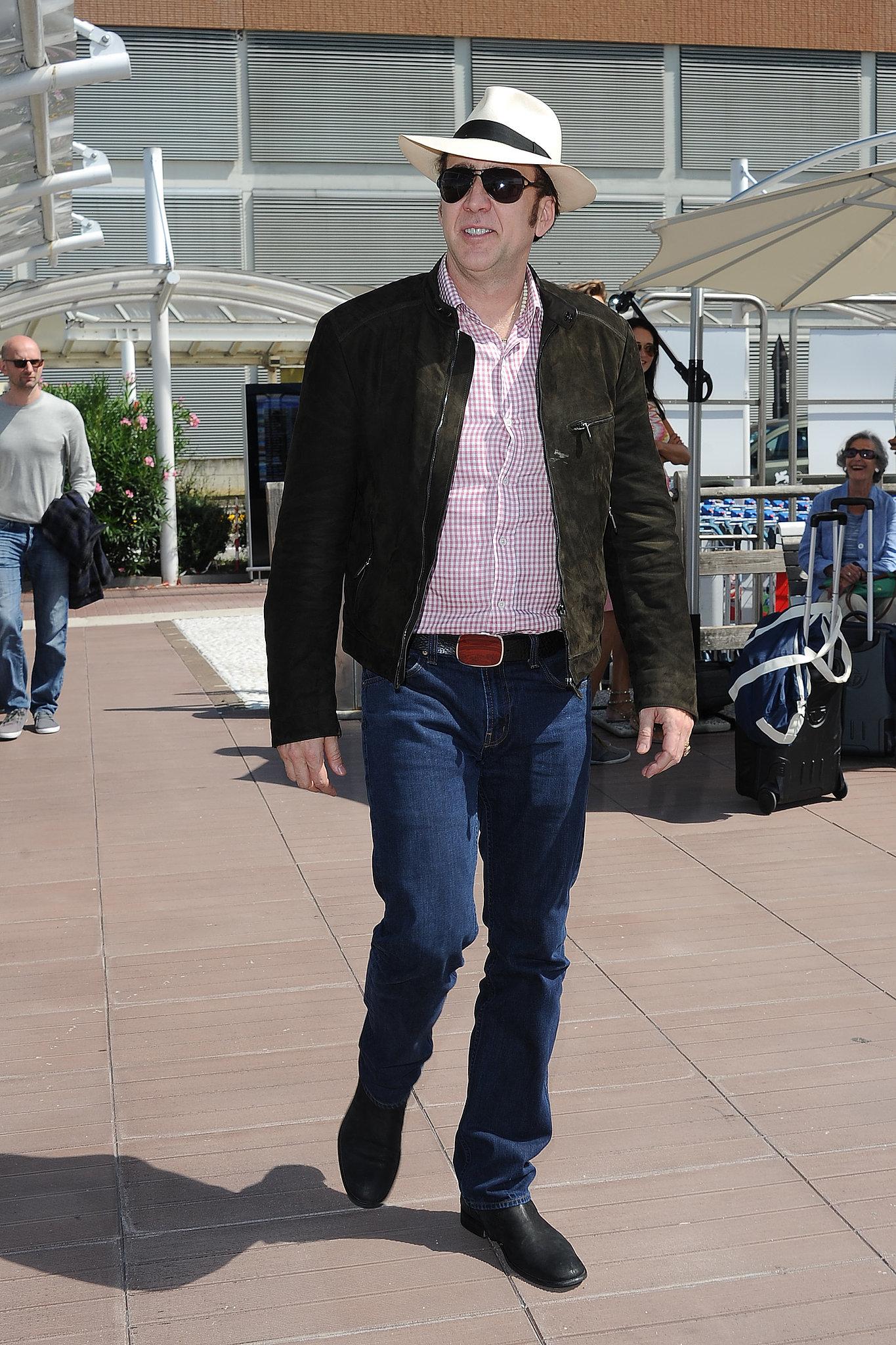 Nicolas Cage arrived in Venice.