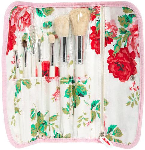 Cath Kidston – Make-up-Pinselset in Tasche mit Rosendruck