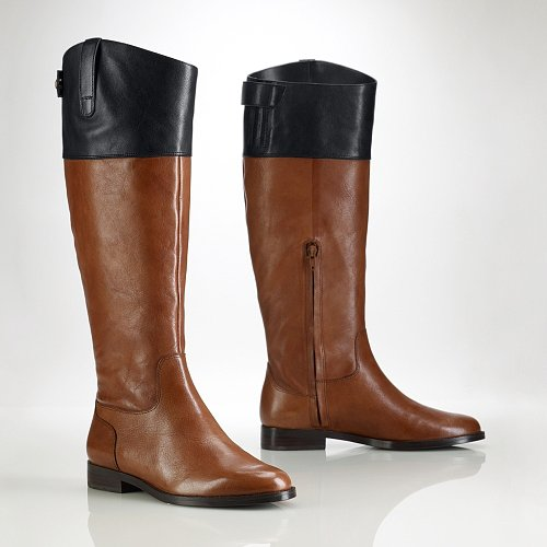 Ralph Lauren Vachetta Two-Toned Riding Boot