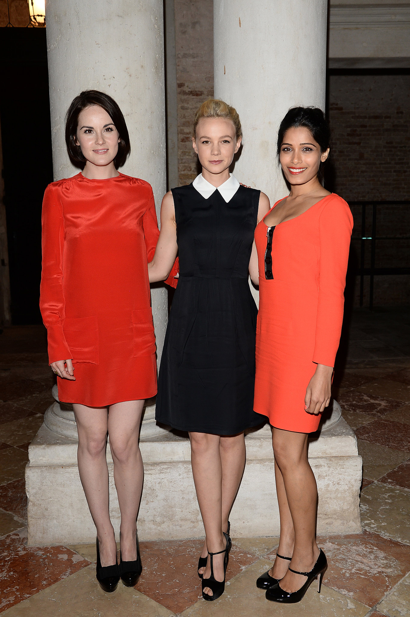 Michelle Dockery, Carey Mulligan, and Freida Pinto attended the Miu Miu Women's Tales dinner.