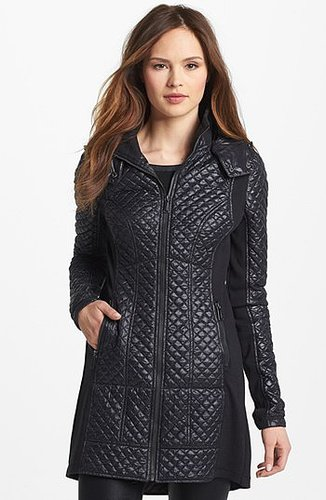 BCBGeneration Knit Inset Quilted Coat