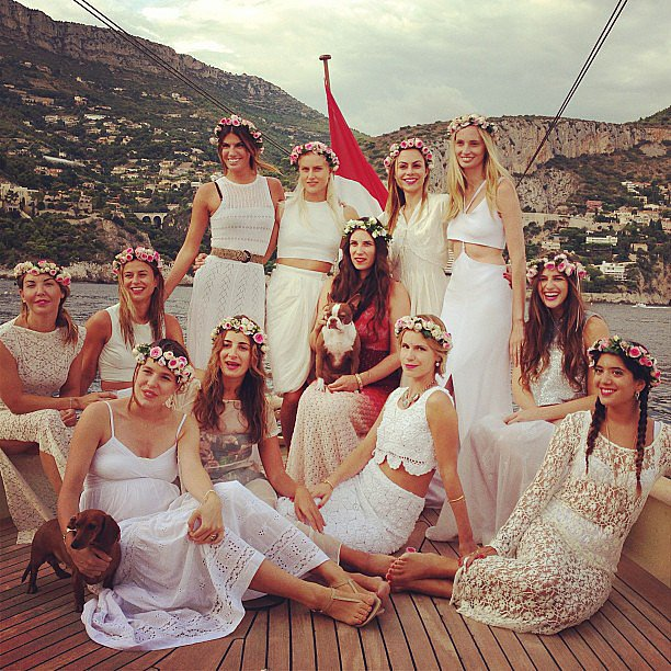 Bride-to-be Tatiana was surrounded by her closest female friends for her bachelorette party.