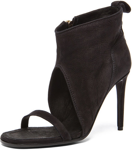 Rick Owens Spike Sandal Wrap Heel in Black