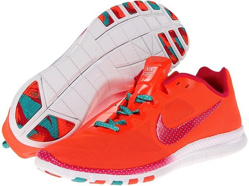 Nike - Free Advantage Polka Dot Print (Total Crimson/Sport Turquoise/Pink Force) - Footwear