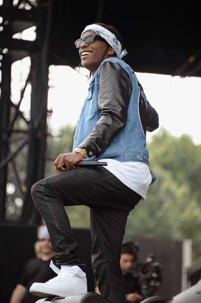 ASAP Rocky hit the stage during the festival.