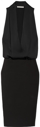 Victoria Beckham Matte-satin and crepe tuxedo-style dress