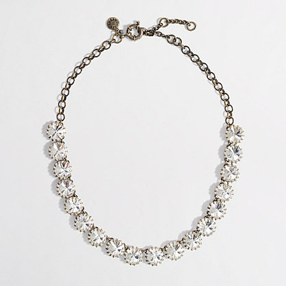 Factory brass-plated crystal necklace