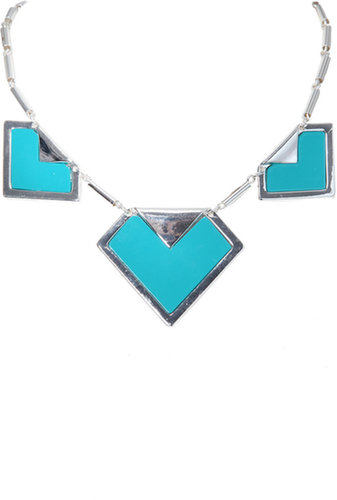Yours Clothing Silver And Teal Arrow Necklace With Extension Chain