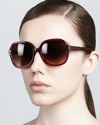 Lanvin Round Sunglasses, Red