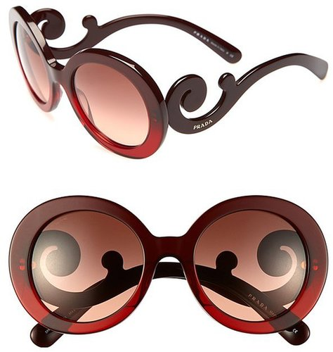Prada 'Baroque' Round Sunglasses