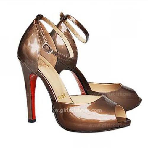 120mm Taupe Sandals Claudia Ankle-Strap Christian Louboutin Outlet