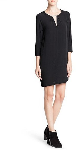 Cut-out detail shift dress