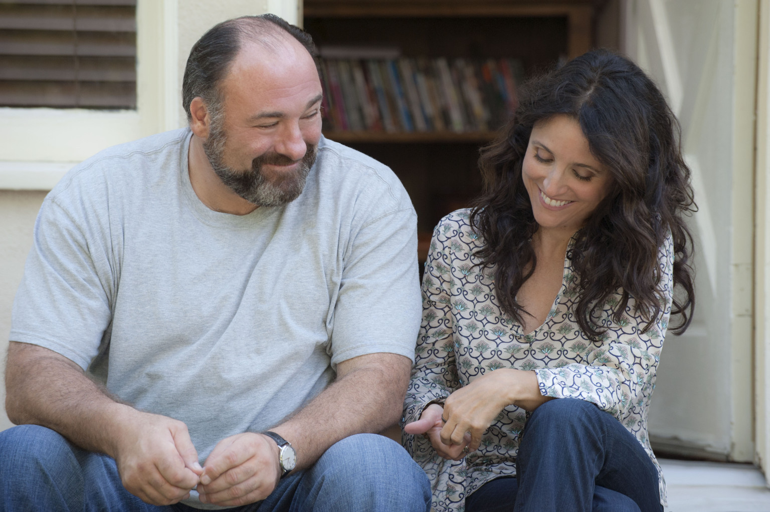 Enough Said What it's about: A masseuse (Julia Louis-Dreyfus) starts dating a sweet new guy (James Gandolfini), but discovers he's the ex-husband of her new friend and client — who's constantly complaining about him.  Why we're interested: This is one of Gandolfini's last film roles, and we're actually quite pleased it's a lightweight romantic comedy, especially since it comes from Nicole Holofcener, the director behind indie gems Please Give and Friends With Money. When it opens: Sept. 18 Watch the trailer for Enough Said.