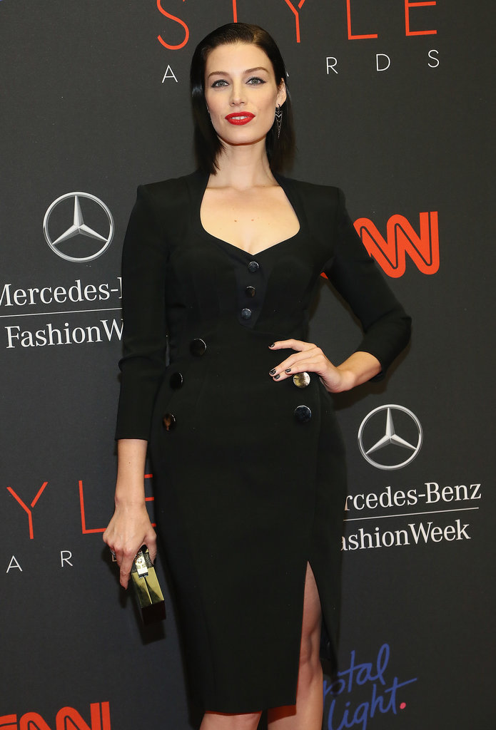 Mad Men actress Jessica Paré wore a sultry black dress to the Style Awards.