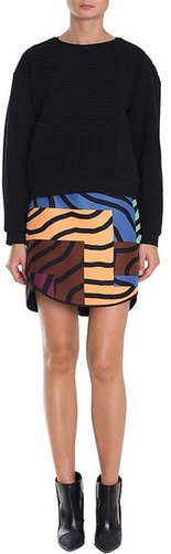 Zebra Maze Paneled Skirt