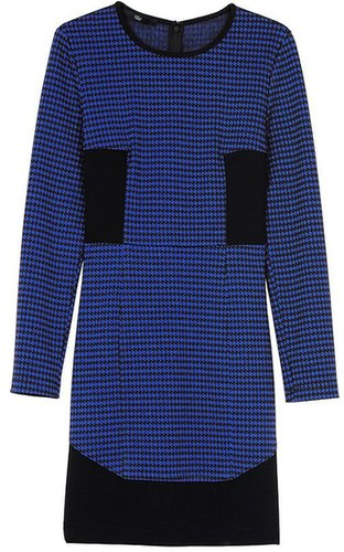 Houndstooth Long Sleeve Dress