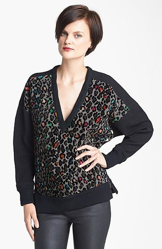 Tracy Reese Cheetah Pattern Knit Tunic