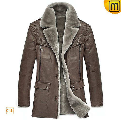 Men's Sheepskin Shearling Coat CW833075