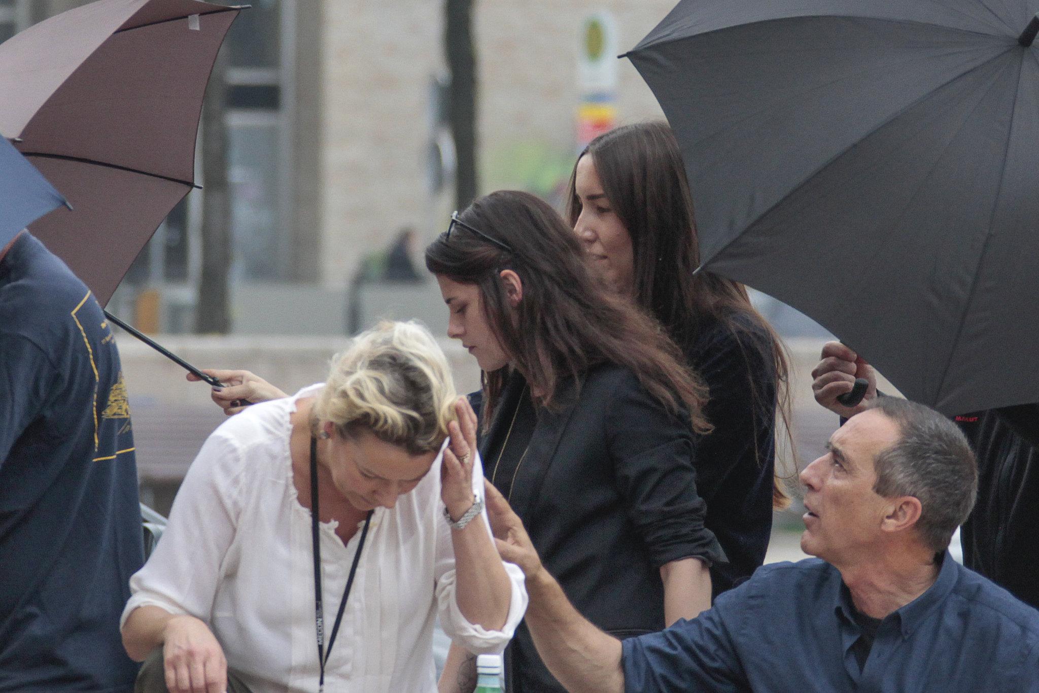 Kristen Stewart Gets Caught Smiling on Set