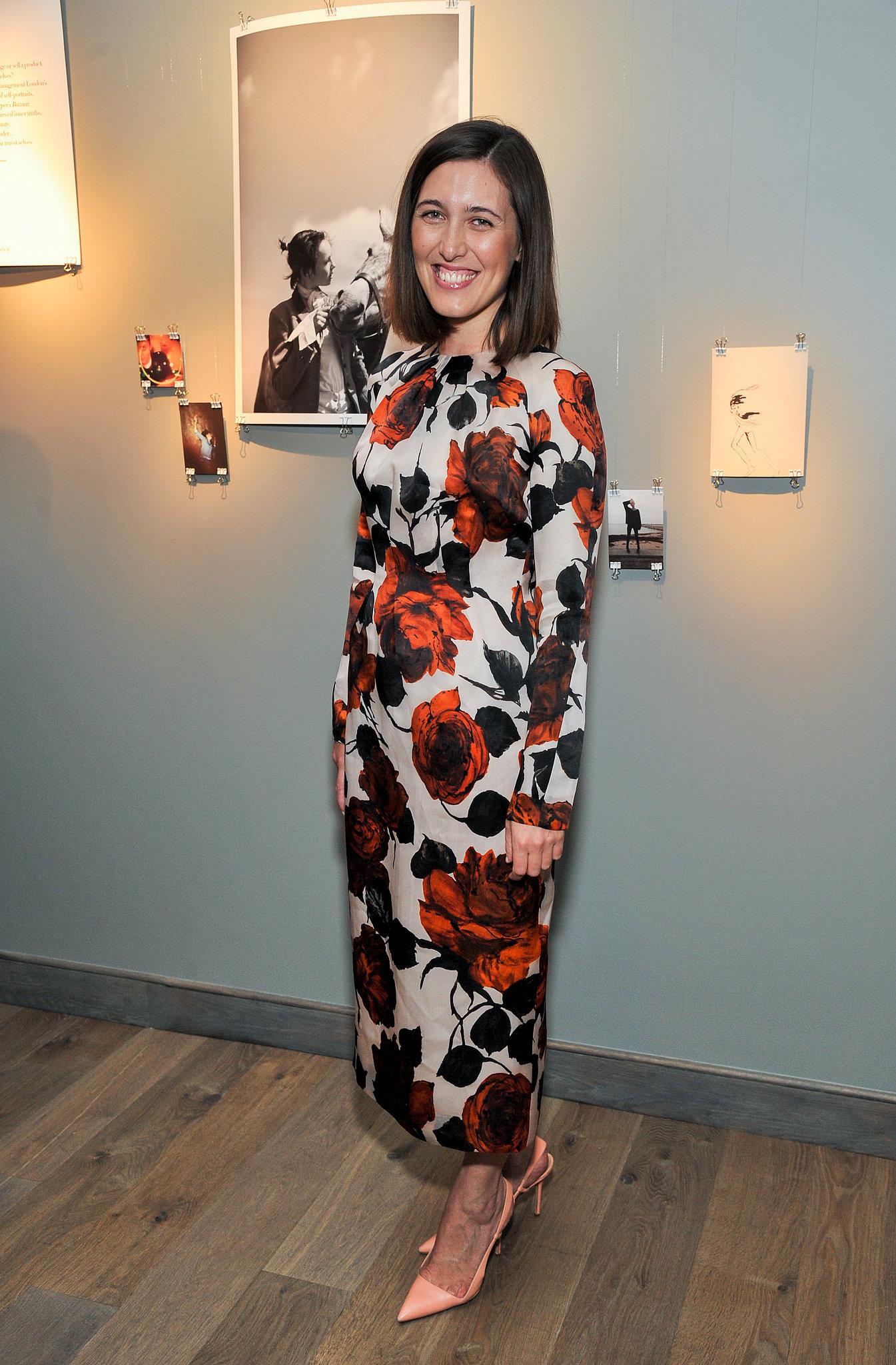 Emilia Wickstead showed her flower power at the Harper's Bazaar event at Moretti Fine Art.