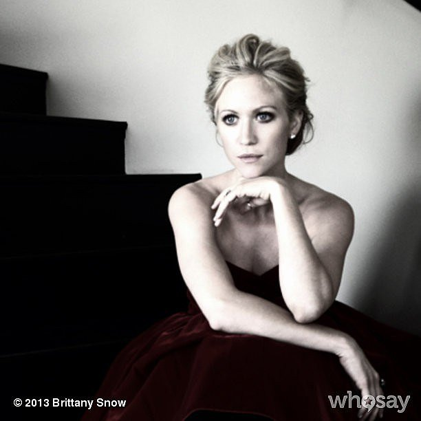 Brittany Snow struck a pensive pose during a photo shoot. Source: Brittany Snow on WhoSay