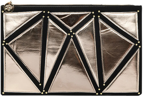 Metallic portfolio clutch