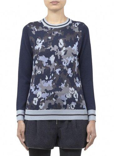 3.1 PHILLIP LIM Striped-rib camouflage pullover