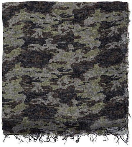 FALIERO SARTI Camouflage-print pashmina scarf