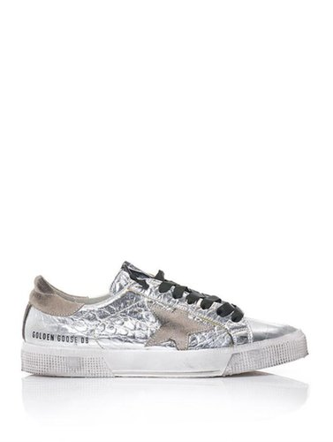 Golden Goose Deluxe Brand May metallic leather trainers