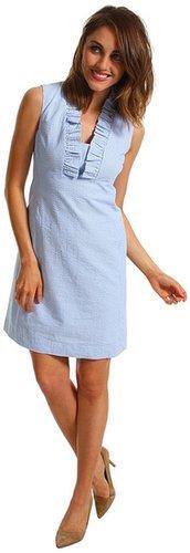 Lilly Pulitzer - Adeline Dress (Flutter Blue Lucky Seersucker) - Apparel