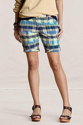 Women's Plaid Bermuda Shorts