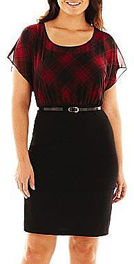 Alyx® Plaid Belted Dress - Plus