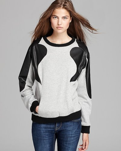 Rebecca Minkoff Sweatshirt - Leather Detail Jenna