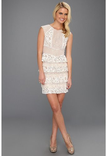 BCBGMAXAZRIA - Kayla Lace Dress (Gardenia) - Apparel