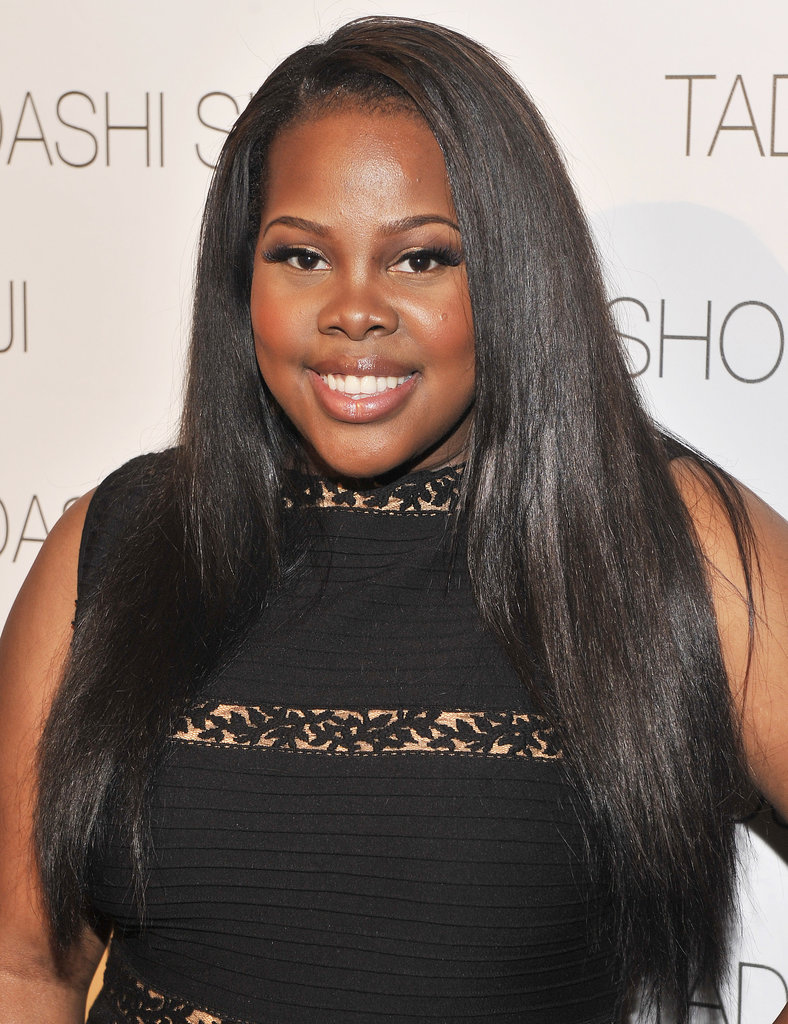 Amber Riley's long, straight hair is more than beautiful.