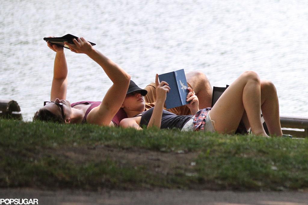 Jennifer Lawrence read Mockingjay, the third installment of the Hunger Games, alongside her on-agin boyfriend Nicholas Hoult.