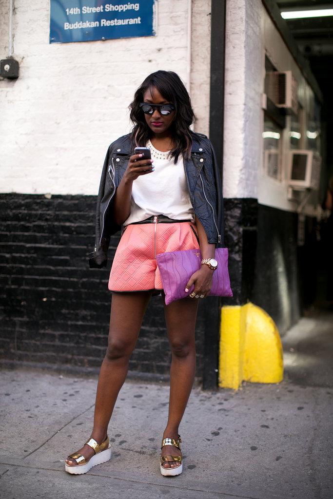 Pink with a tough-girl edge.