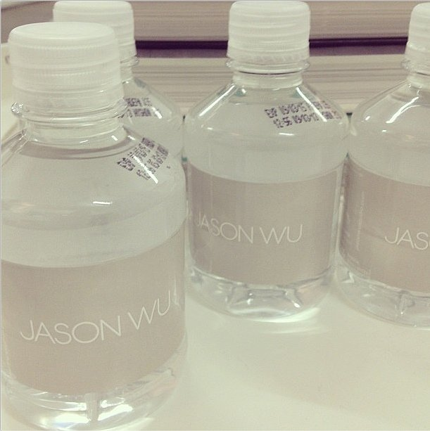 After laying eyes on these bottles, only Jason Wu water will do! Source: Instagram user jasonwustudio