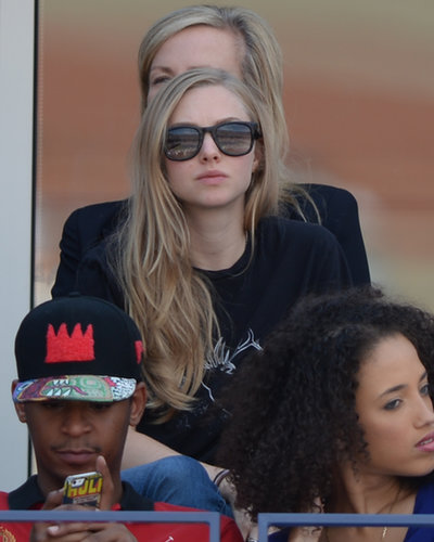 Amanda Seyfried concentrated on the court.